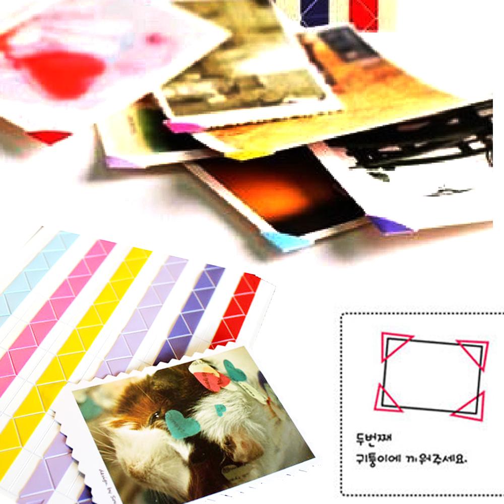 Kiret 韓國DIY相片角貼 拍立得照片護角固定貼408枚入-三色任選-金銀白