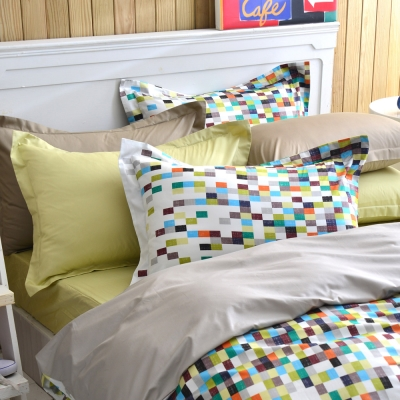 IN HOUSE-Love Copenhagen300織紗精梳棉-薄被套床包組(加大)