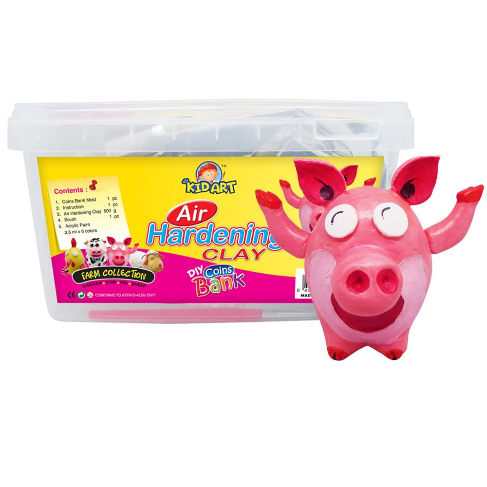 【KID ART】美國創意手作黏土-原色黏土(粉紅豬)