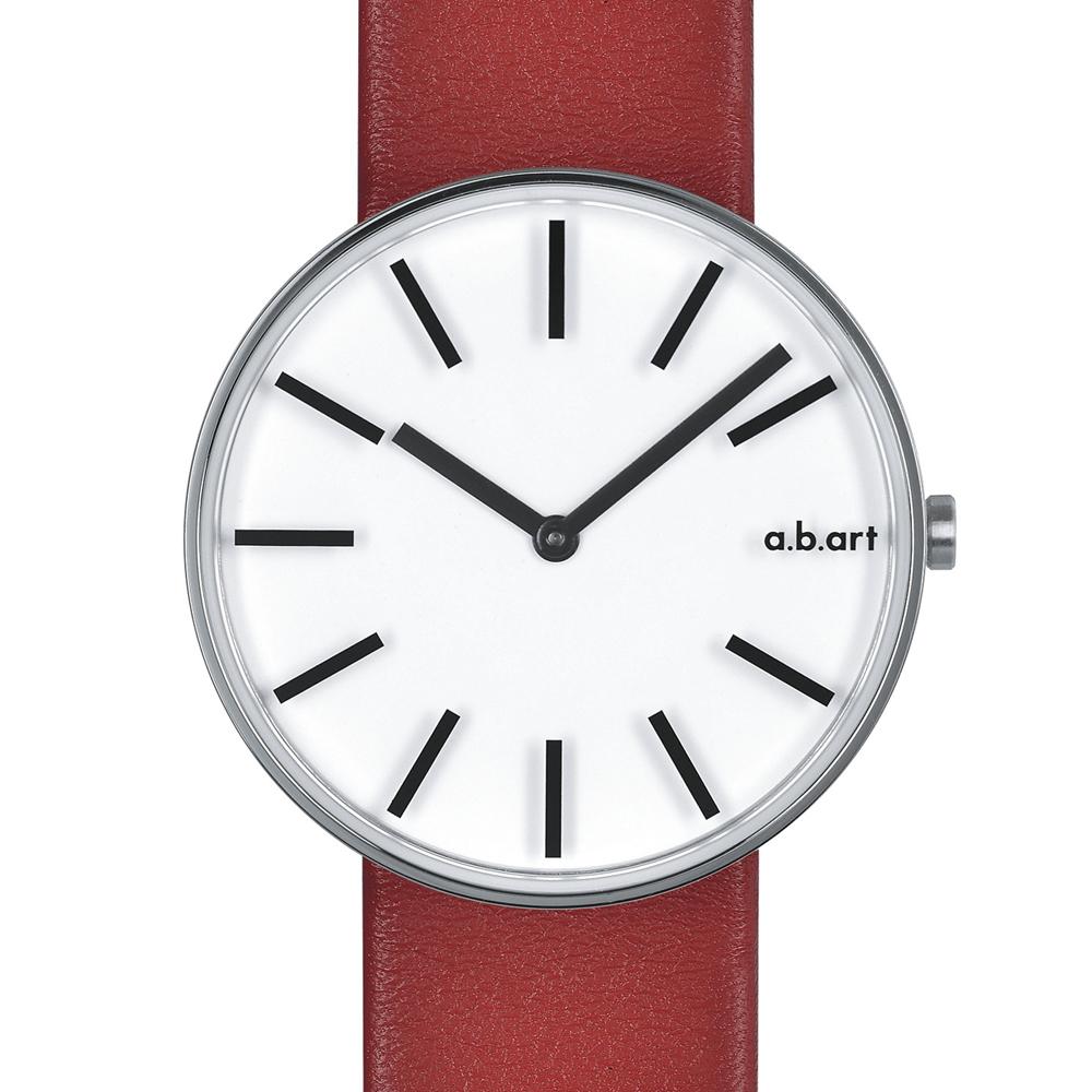 a.b.art DL系列 光影美學線性腕錶-白/39mm