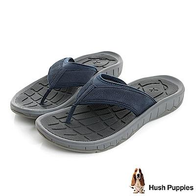 Hush Puppies BREEZE夏日機能夾腳拖鞋-深藍