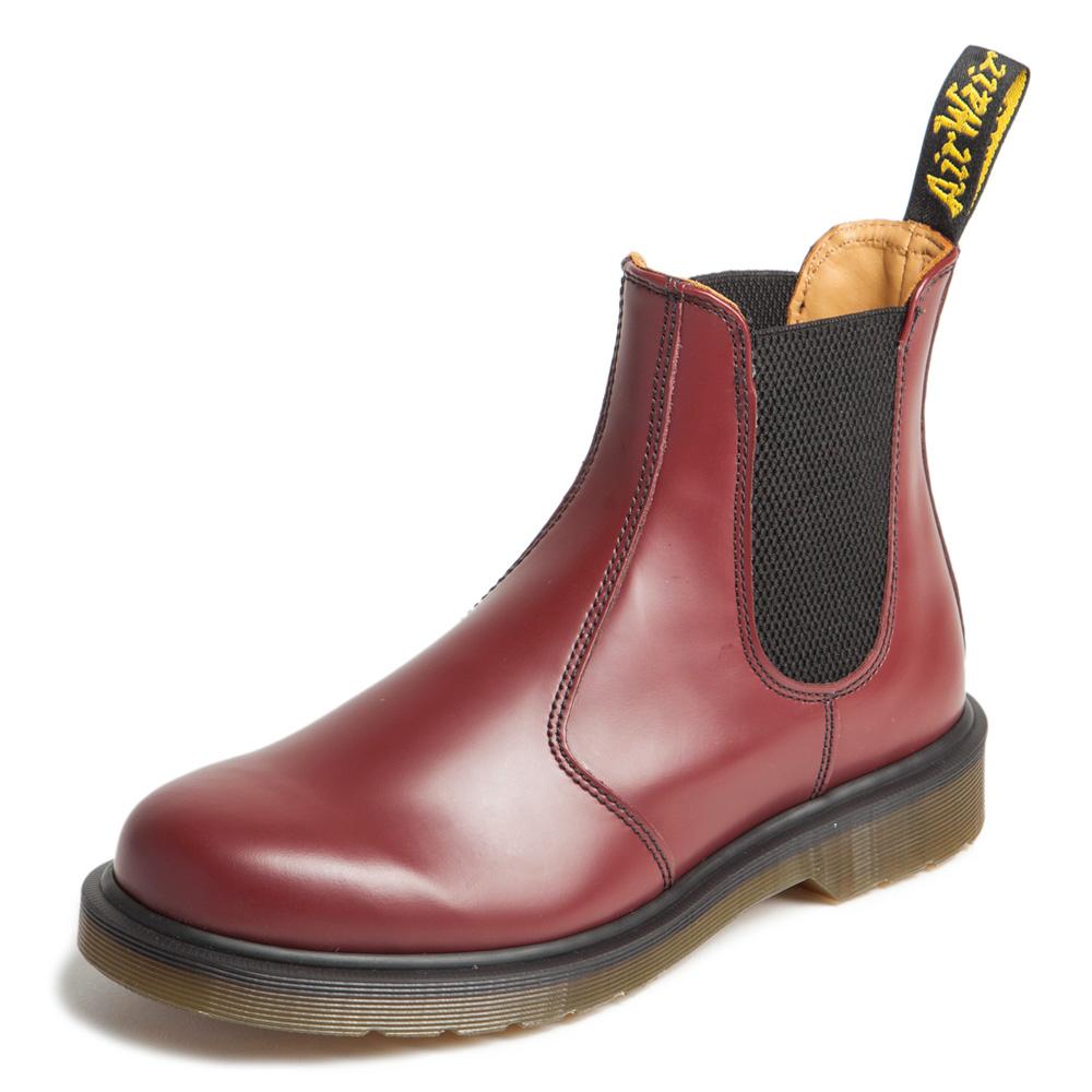 Dr.Martens-側邊鬆緊短靴-櫻桃紅R11853600
