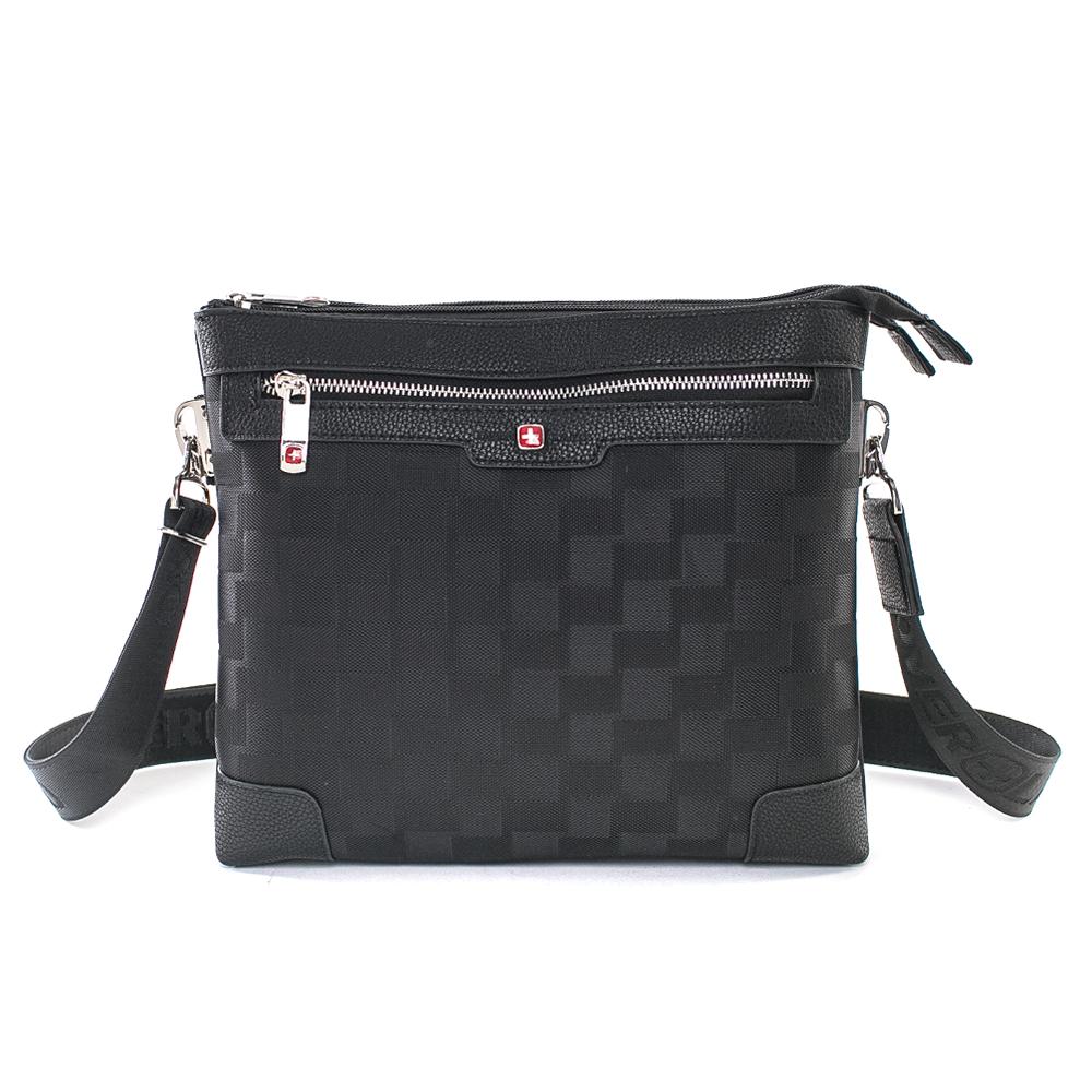 OVERLAND 美式格紋設計方形側背包-3079