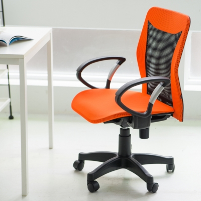 Home Feeling 透氣附椅套低背電腦椅/辦公椅(5色)