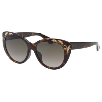 GUCCI- 貓眼 花園系列 太陽眼鏡 (琥珀色)