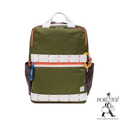 PORTER - 活力無限GEAR UP高機能時尚後背包 - 綠配白