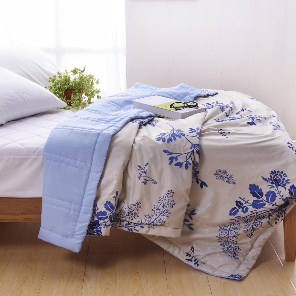 喬曼帝Jumendi-花影如夢 台灣製大尺寸超柔細涼感紗涼被 @ Y!購物