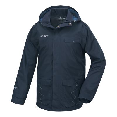 歐都納 GORE-TEX 男款防水二件式科技保溫棉外套 A-G1562M 藍黑
