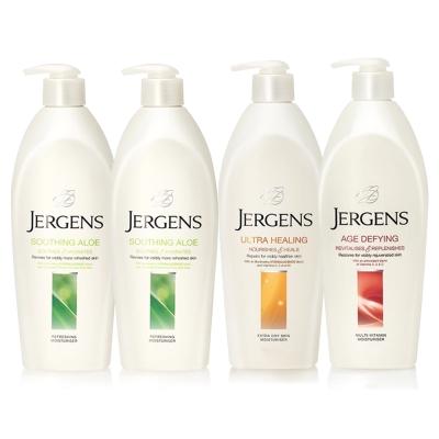 JERGENS珍柔 美體護膚保濕乳液650ml-蘆薈x2+長效配方x1+維他命x1
