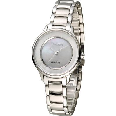 CITIZEN 星辰 L系列 迷人風采光動能時尚錶(EM0380-57D)-銀/30mm