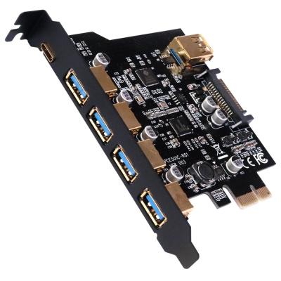 伽利略 PCI-E USB 3.0 5+1C 6埠