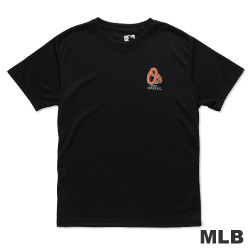 MLB-巴爾的摩金鶯隊印花LOGO快排短袖T恤-黑(男)