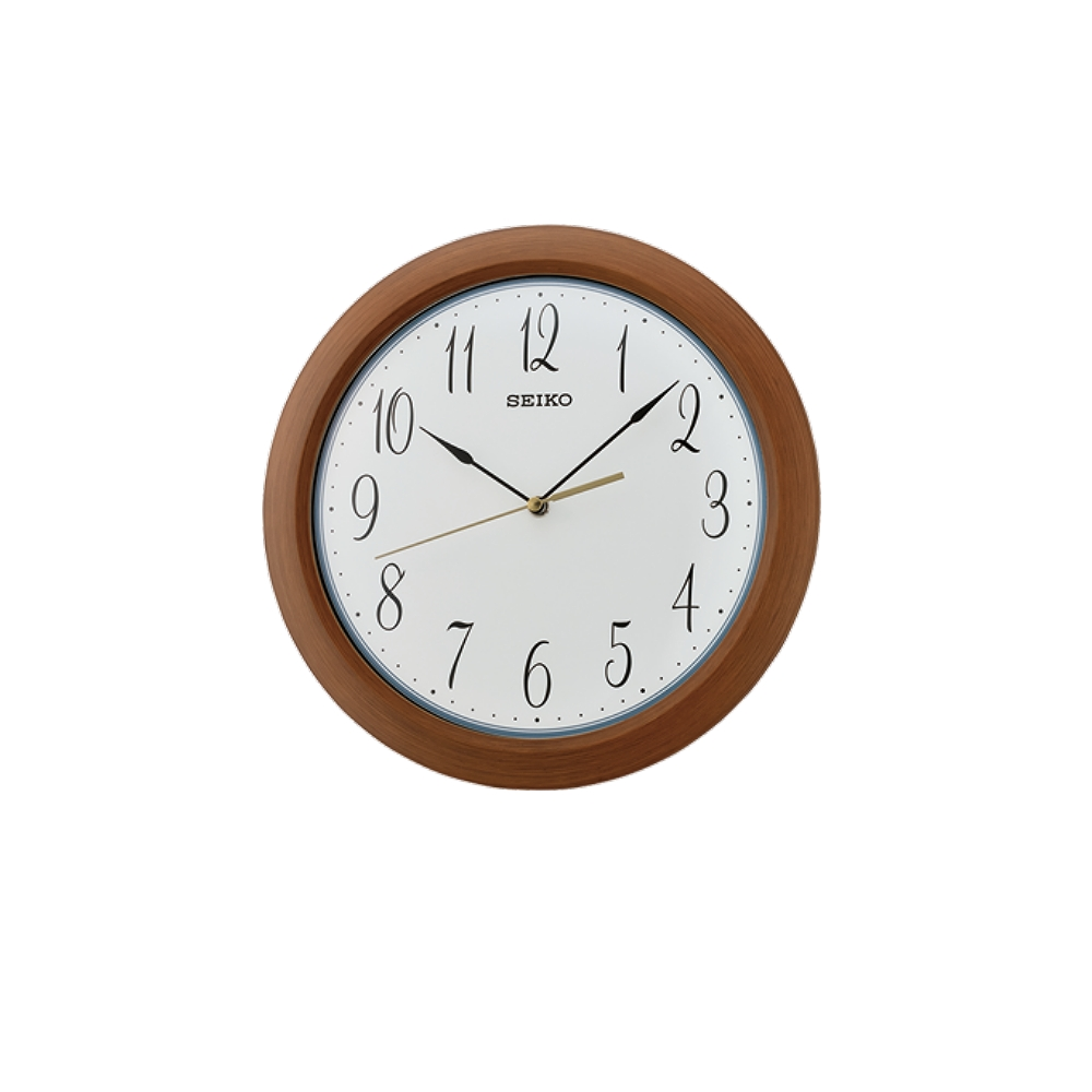 SEIKO 日本精工 滑動式秒針 靜音掛鐘(QXA713Z)-咖啡-白/30cm