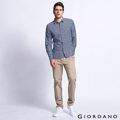 GIORDANO 男裝基本款休閒長褲-18 灰褐色