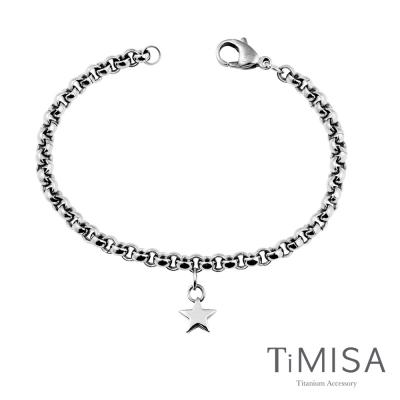 TiMISA《迷你幸運星》純鈦手鍊(S)