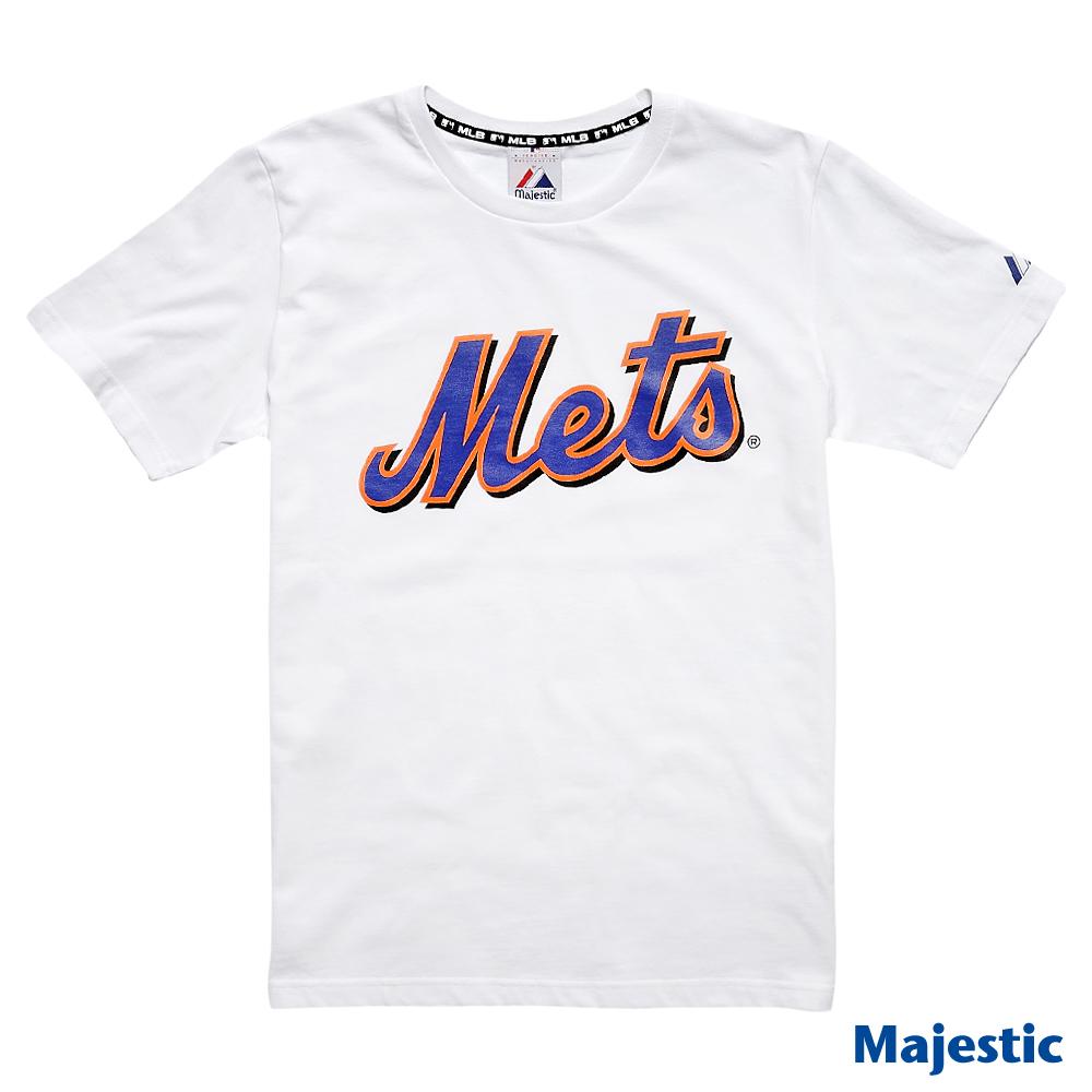 Majestic-紐約大都會隊隊徽短袖T恤-白