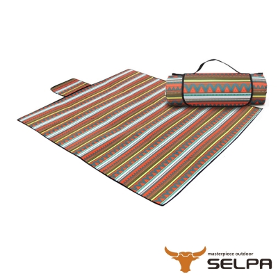 韓國SELPA 防水雙面可用繽紛野餐墊 特大型