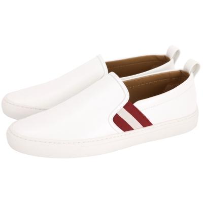 BALLY Herald 紅白紅織帶休閒便鞋(男鞋/白色)