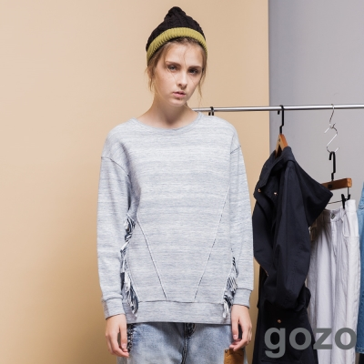 gozo-簡約刷色自然感上衣-二色