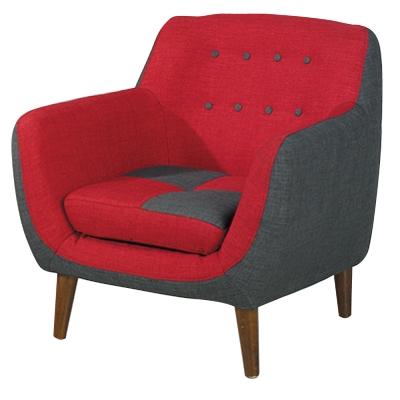 品家居伊芙琳布面沙發單人座- 79 x 75 x 80 cm-免組