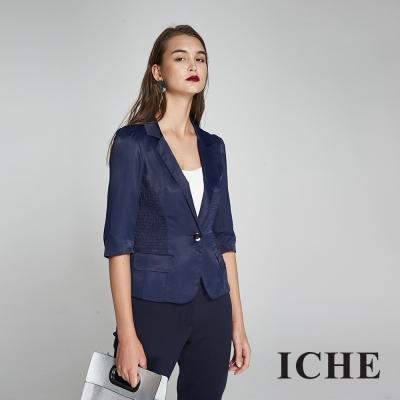 ICHE衣哲 時尚光澤感七分袖造型外套