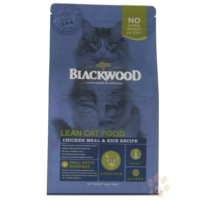 柏萊富blackwood 特調成貓低卡配方(雞肉+糙米)4磅