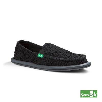 SANUK 立體針織懶人鞋-女款(黑色)