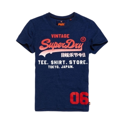 SUPERDRY 極度乾燥 短袖 文字T恤 藍色 366