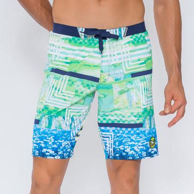澳洲Sunseeker泳裝男士快乾衝浪泳褲-渲染綠
