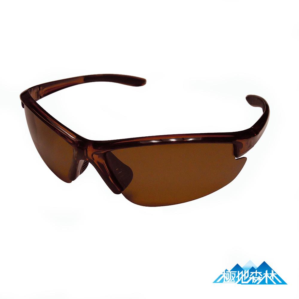 【極地森林】棕色寶麗萊偏光鏡片運動太陽眼鏡(7703)