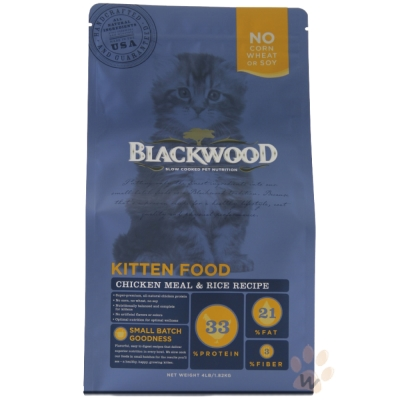 柏萊富blackwood 特調幼貓成長配方(雞肉+糙米)4磅