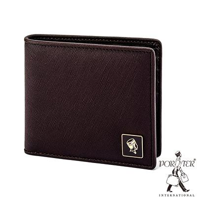 PORTER - 法式時尚BEND橫式皮夾 - 梅洛紅