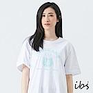 ibs美式小熊文字T恤-白-女