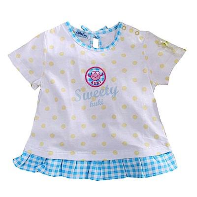 純棉荷葉下襬點點短袖T恤  k50783 魔法Baby