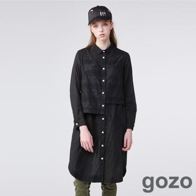 gozo印象派塗鴉刺繡襯衫洋裝(二色)