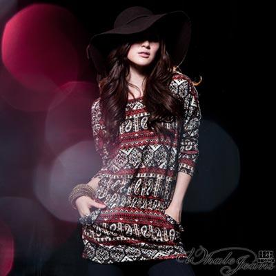 WHALE JEANS 流行指標印花洋裝-2色