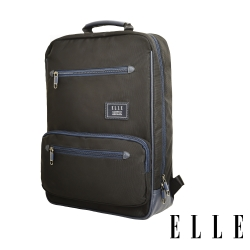 ELLE 城市都會休旅系列-大容量多隔層收納13吋休閒後背包-黑色 EL83911