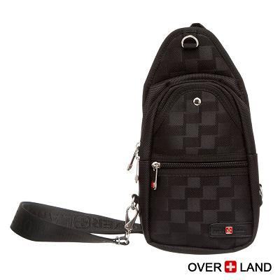 OVERLAND-美式十字軍x美式潮酷格紋斜背包