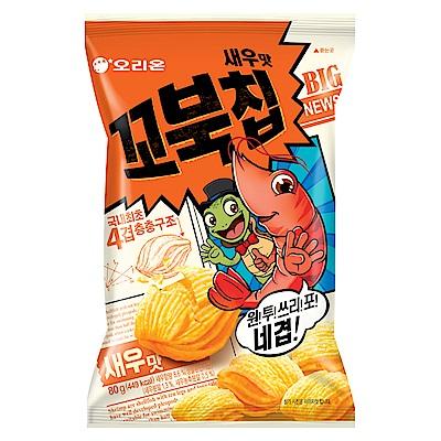 好麗友 烏龜玉米脆片-烤蝦風味(80g)