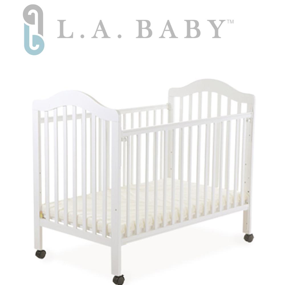 (美國 L.A. Baby) 米爾頓嬰兒大床-白色