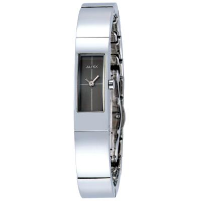 【ALFEX】極簡時尚手環錶(黑)