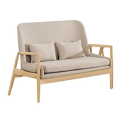 品家居 巴特萊棉麻布實木雙人沙發椅-137x70x94cm-免組