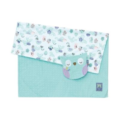 奇哥 PUP 豆趣毯+安撫巾禮盒-粉綠