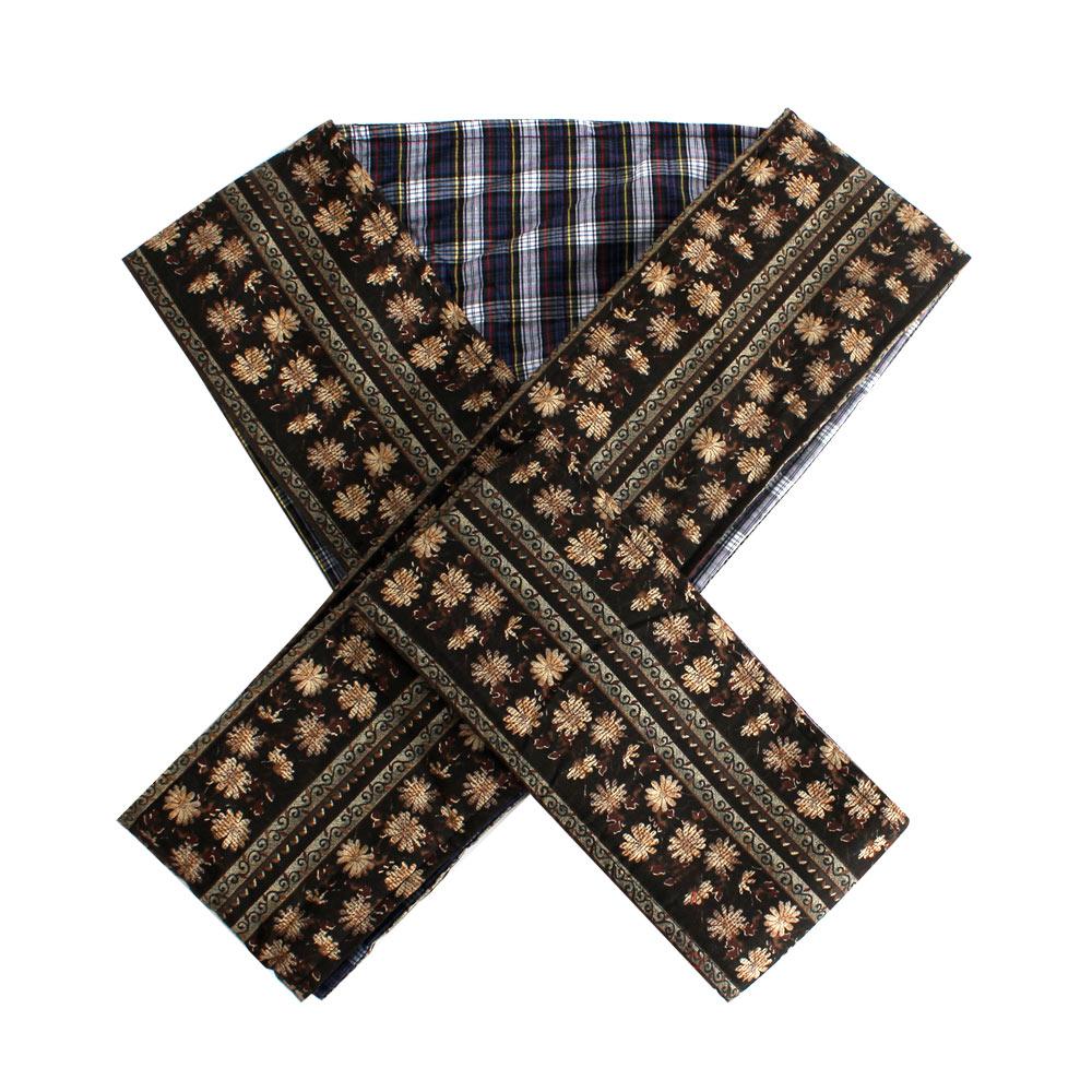 英田亞樹 寬版X型減壓雙層裁縫嬰兒背巾/背帶(雛菊咖)
