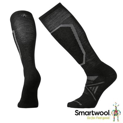 SmartWool 羊毛襪 PhD滑雪中級減震高筒襪 黑色