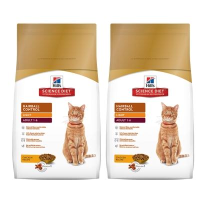 Hill's 希爾思 成貓化毛 體重專用配方 減肥貓飼料 7磅 X 2包