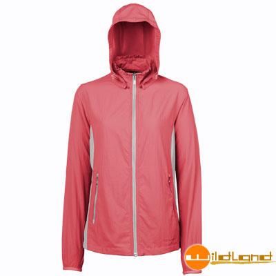 【Wildland 荒野】0A01907女 透氣抗UV輕薄外套(14櫻紅色)