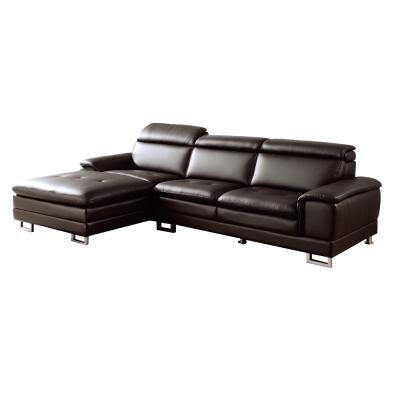 品家居 威布斯咖啡皮革L型沙發(左右可選)-300x190x90cm-免組
