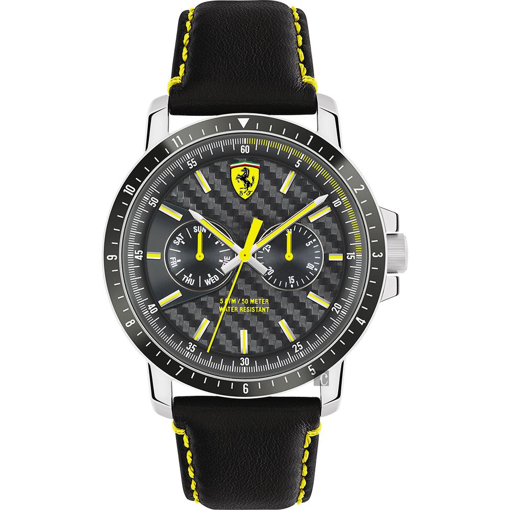 Scuderia Ferrari 法拉利 TURBO日曆手錶-灰x黑/42mm