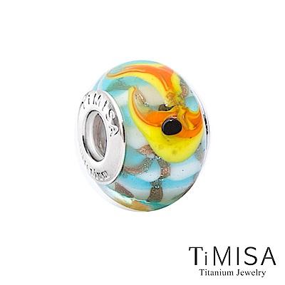 TiMISA 小金魚(11mm)純鈦琉璃 墜飾串珠